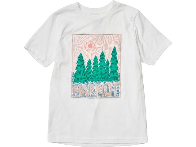 Marmot Nico T-shirt Meisjes, white